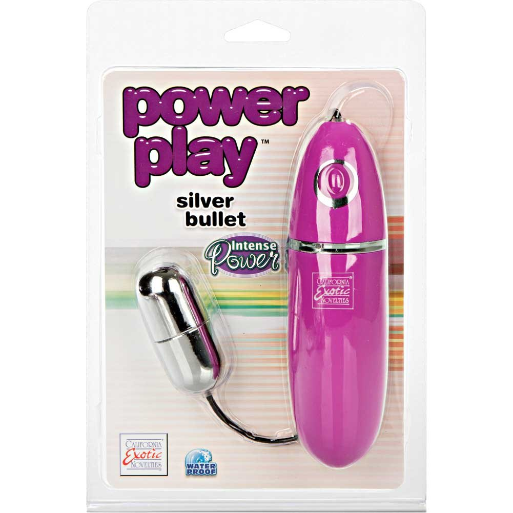 "Power Play Single Silver Bullet Vibrator 2.25"" - View #1"