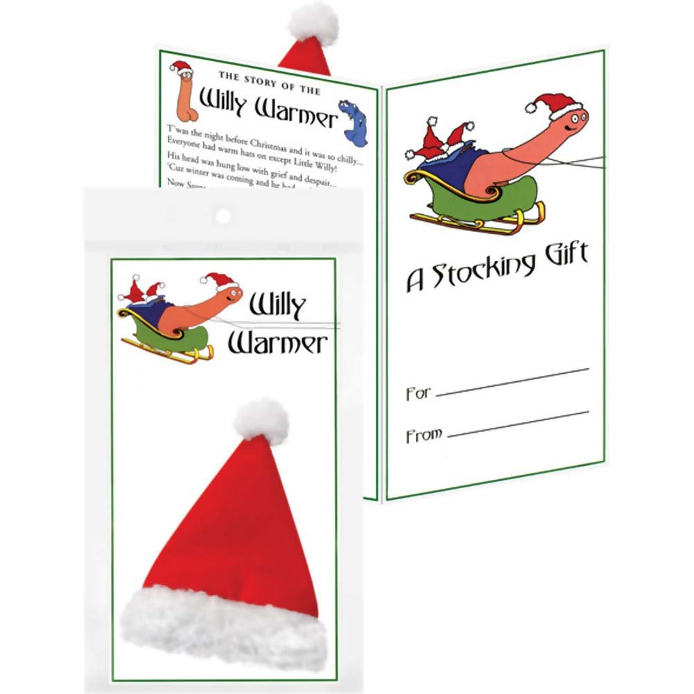 Willy Warmer with Drawstring Pull Red Santa Hat for Willy - View #1