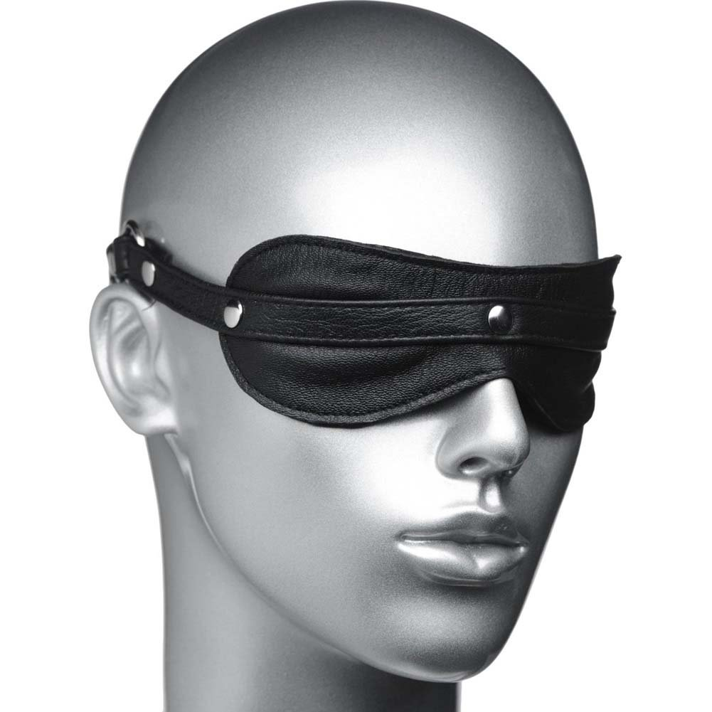 Masters Strict Leather Padded Blindfold Black - View #1