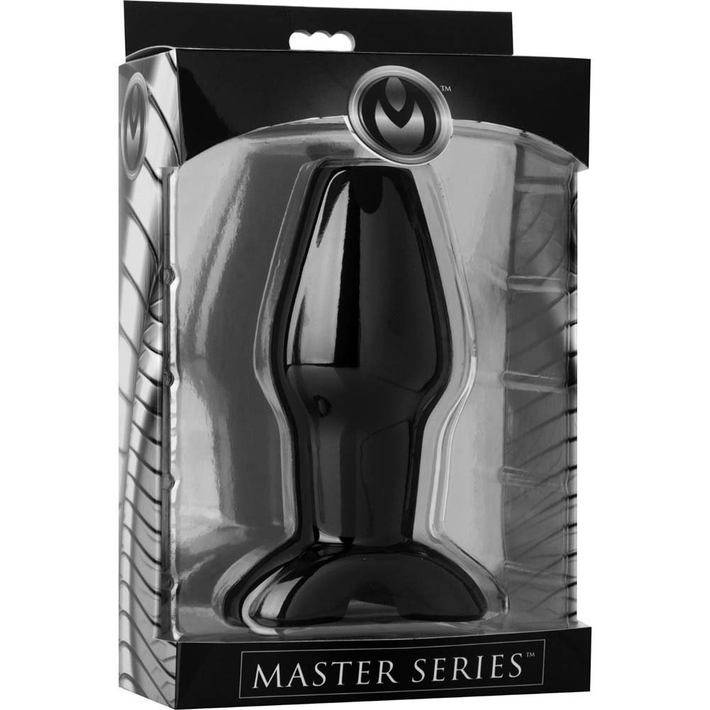 "Masters Invasion Hollow Silicone Large Anal Plug 5.25"" Black - View #1"