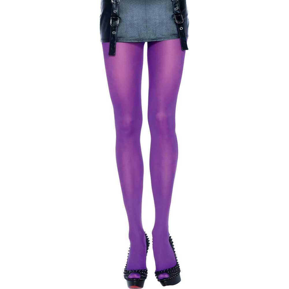 Leg Avenue Nylon Opaque Tights One Size Purple - View #1