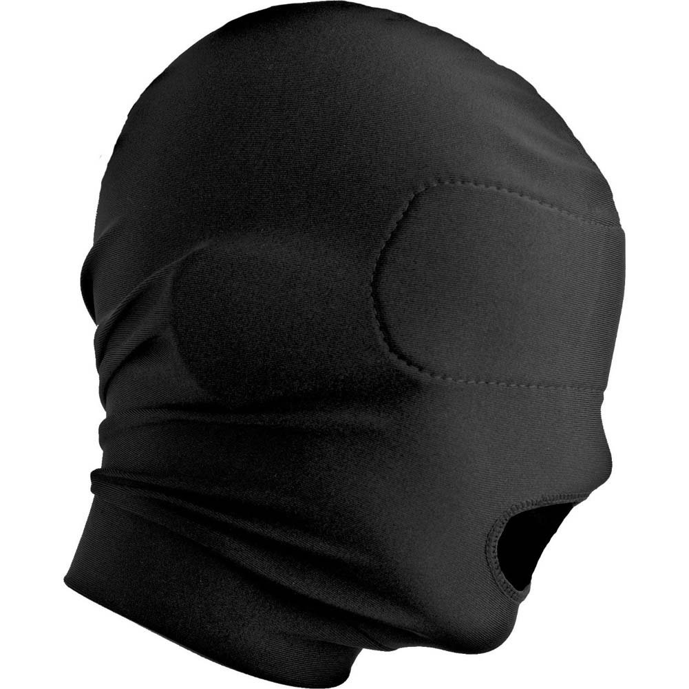Master Series Disguise Open Mouth Hood with Padded Blindfold Black - View #4