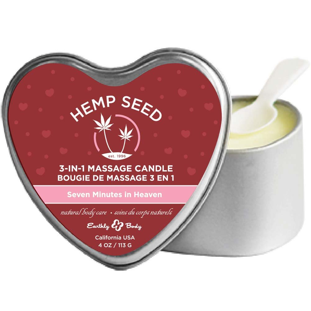 Earthly Body Hemp Seed 3 in 1 Massage Candle 4 Ounce 113 G Seven Minutes in Heaven - View #1
