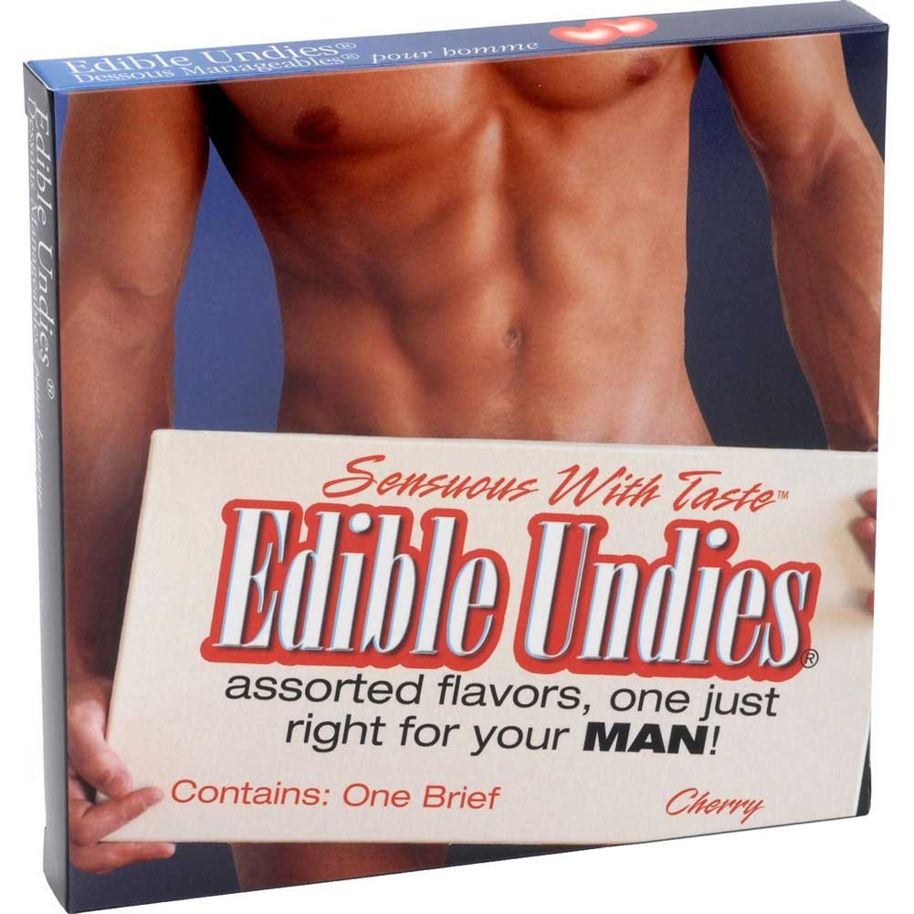 Edible Undies For Men - Strwberry/Champagne - View #1