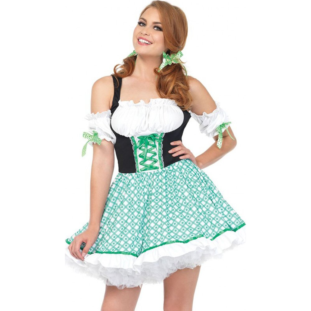 Clover O Cutie 2 Piece St Patricks Costume Medium/Large Green - View #1
