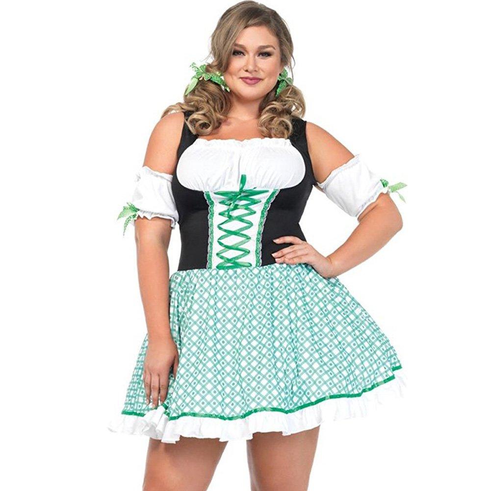 Clover O Cutie 2 Piece St Patricks Costume Plus Size 1X/2X Green - View #1