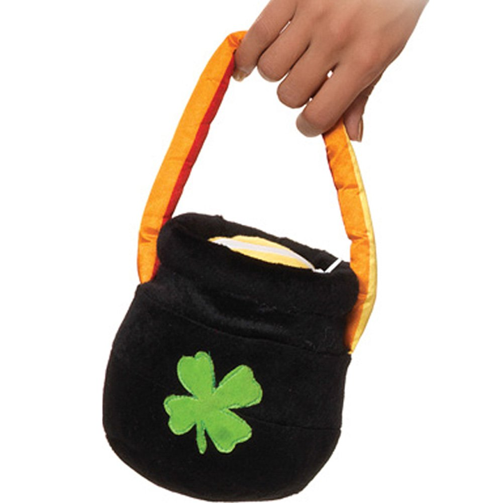 Plush Pot O Gold Purse with Rainbow Handle - View #1