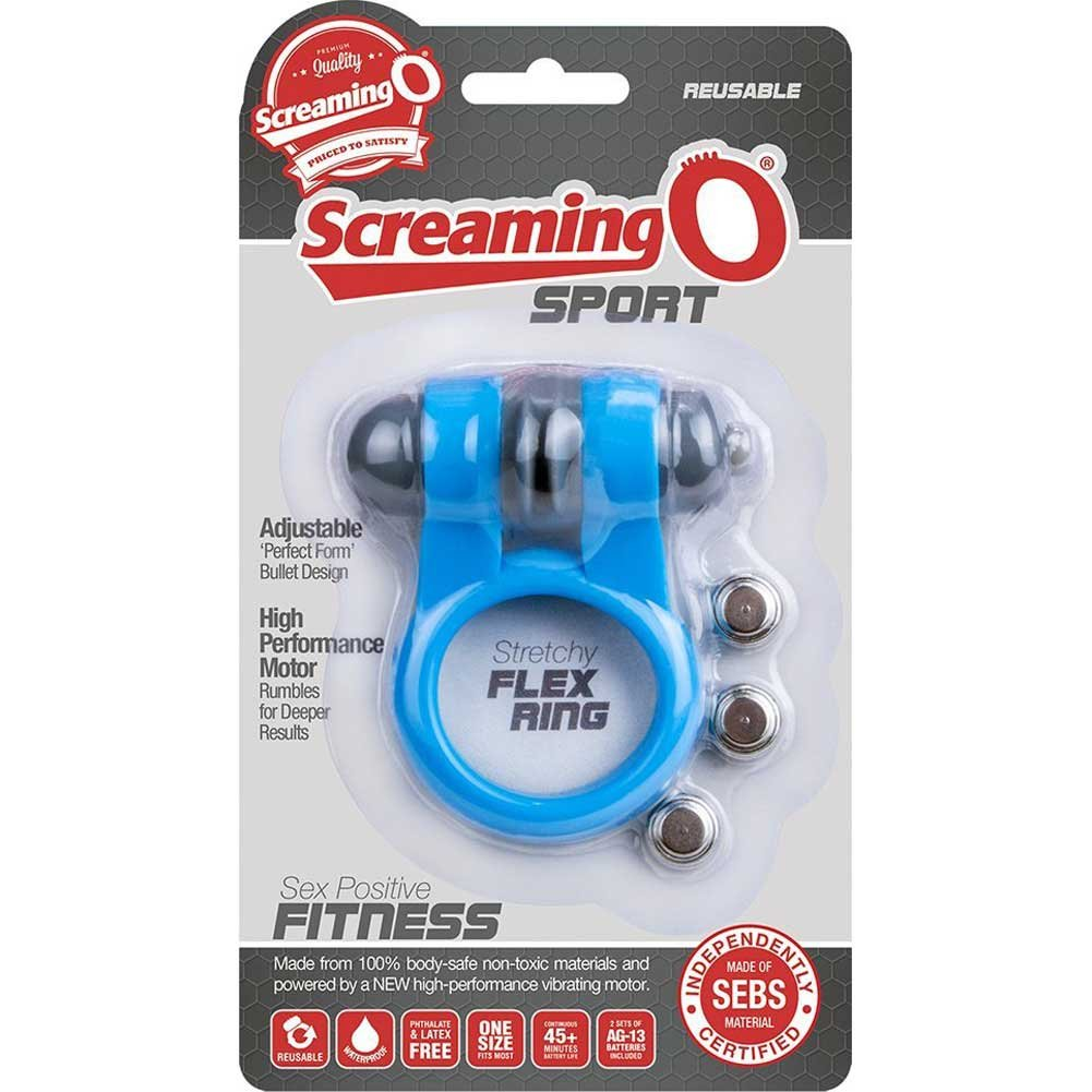 Screaming O Sport Cock Ring One Size Blue - View #4