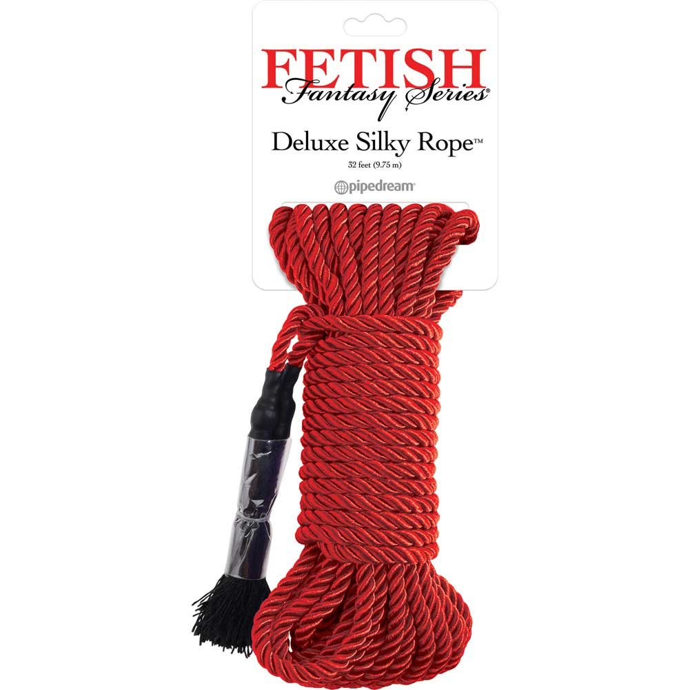 Fetish Fantasy Series Deluxe Silky Rope 32 Feet 9.75 M Red - View #1