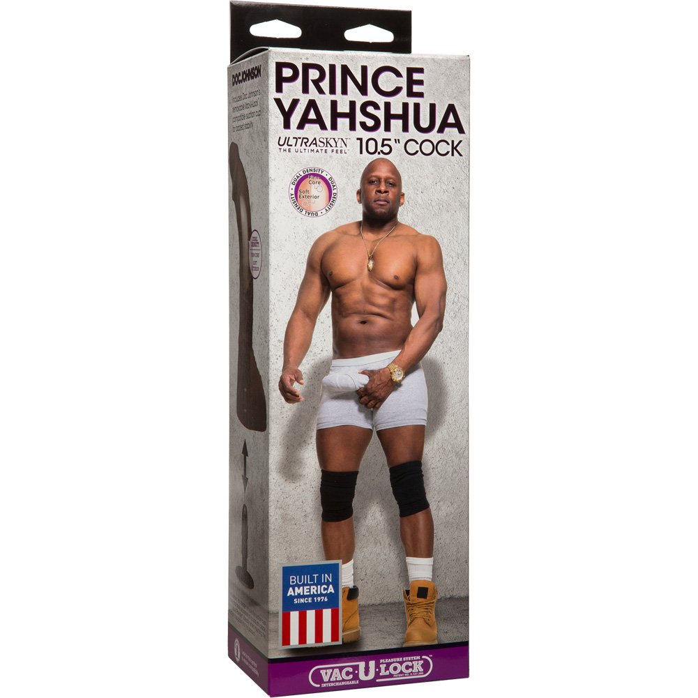 "Doc Johnson Prince Yahshua ULTRASKYN Cock with Suction Base 10.5"" Ebony - View #4"
