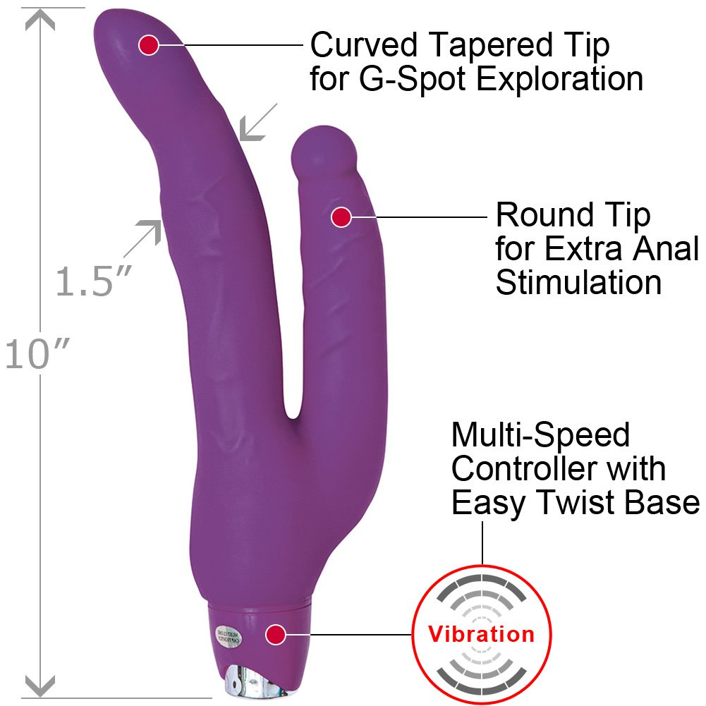 "Nasstoys Sex Double Penetrator Dual Motor Vibe 10"" Purple - View #1"