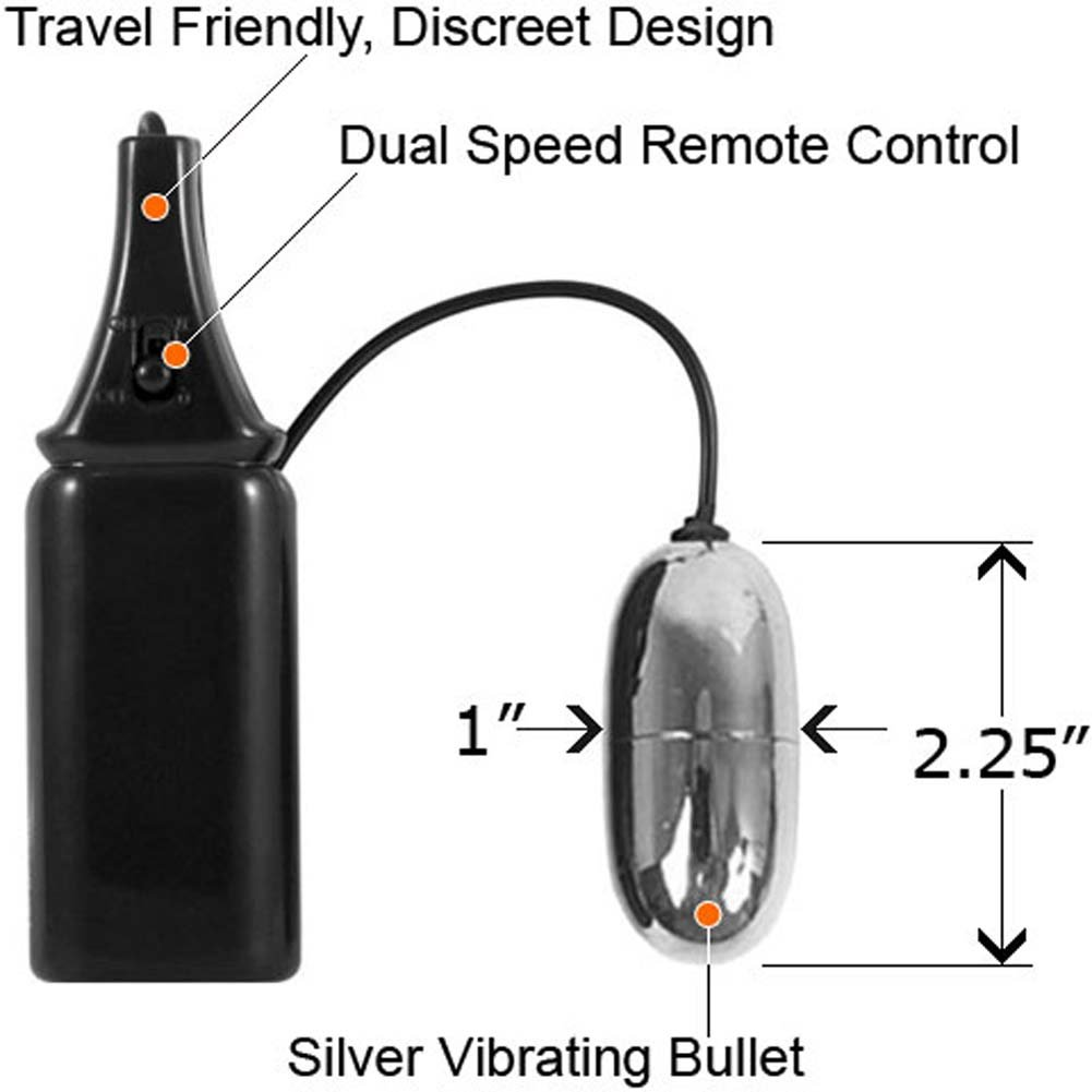 Dual Speed Vibrating Silver Bullet - View #2