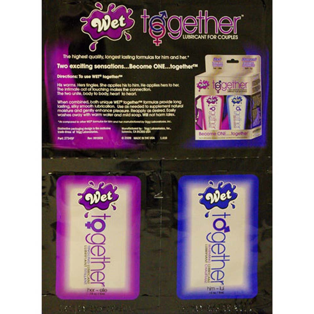 Wet Together Lubricant Sample Set for Couples - View #1