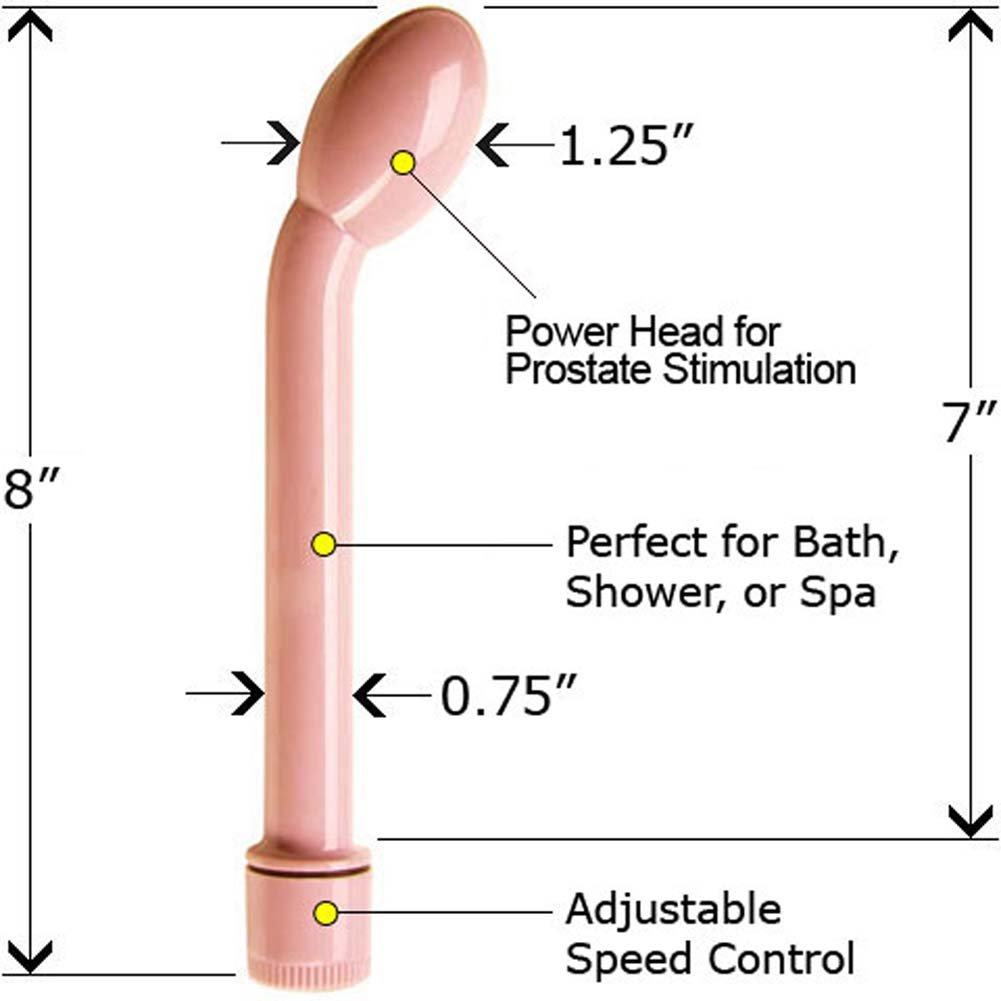 "Waterproof Multi Speed Prostate Massager for Men 8"" Pink - View #1"