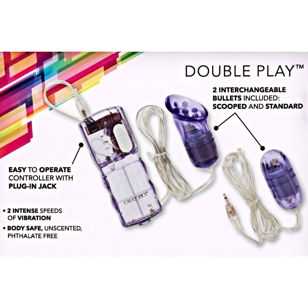 Double Play Dual Massagers for Intimate Stimulation Purple - View #1
