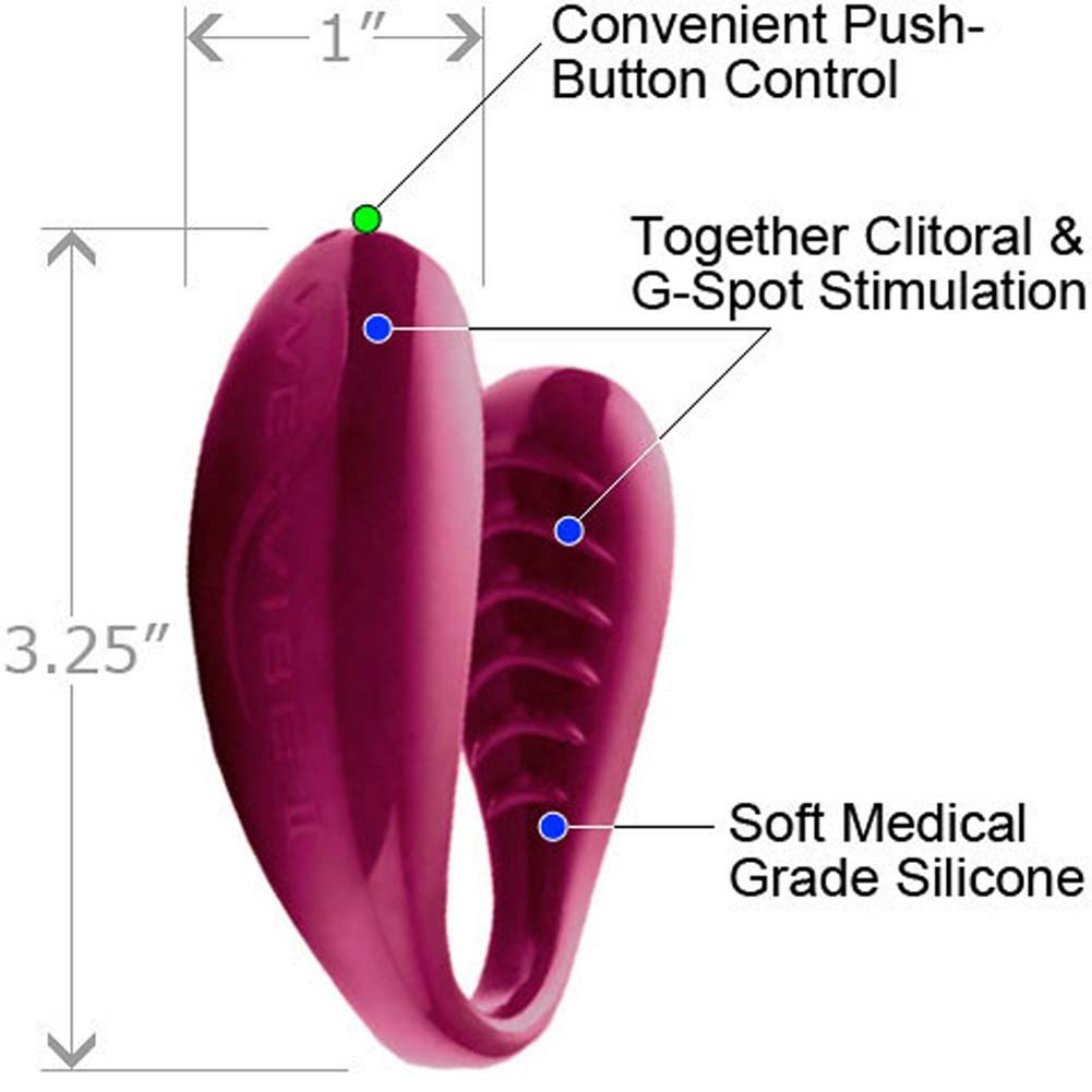 We-Wibe II Cordless Silicone G-Spot Vibe for Couples Ruby - View #1