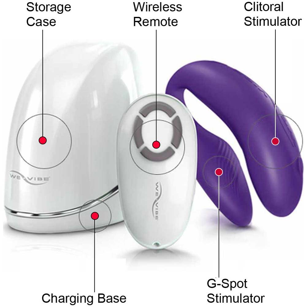 We-Vibe 4 Wireless Silicone G-Spot USB Vibrator for Both Purple - View #2