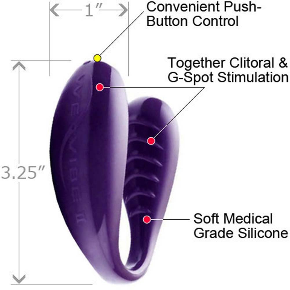 We-Vibe 2 PLUS Silicone USB Rechargeable G-Spot Vibe for Couples Purple - View #1
