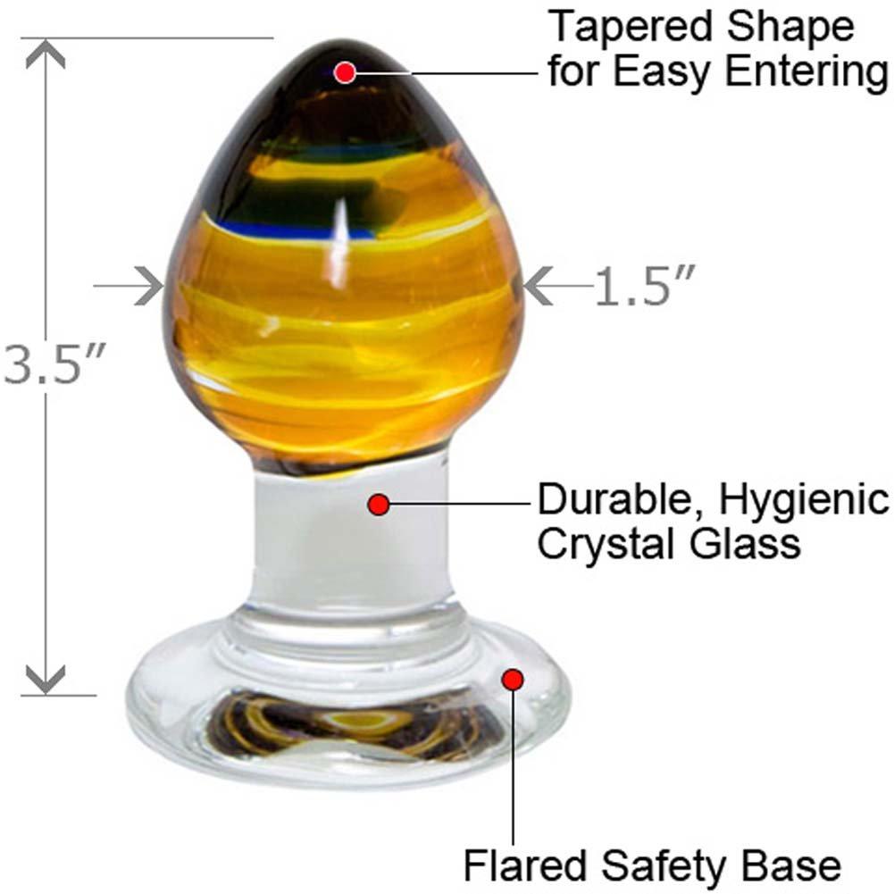 "Prisms Erotic Glass Pranava Anal Plug 3.5"" - View #1"