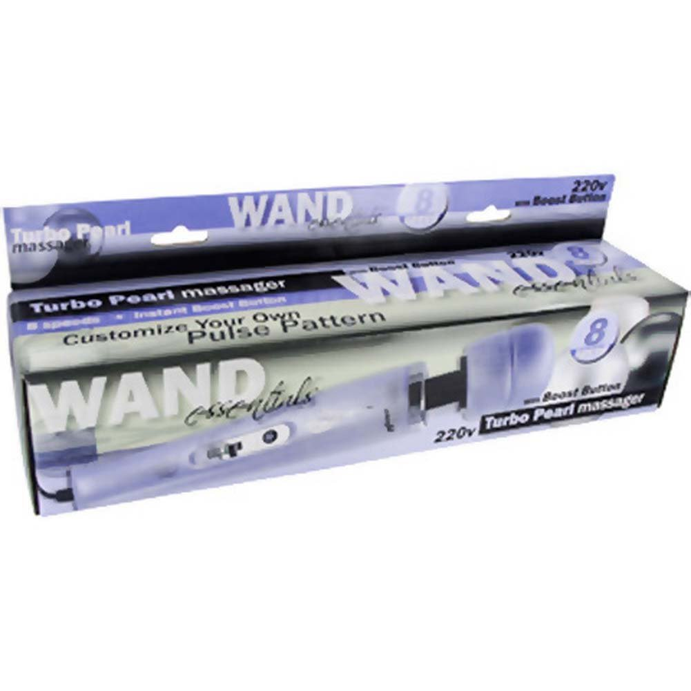 "Wand Essentials 8 Speed Turbo Pearl Wand Massager 12.5"" Lavender - View #4"