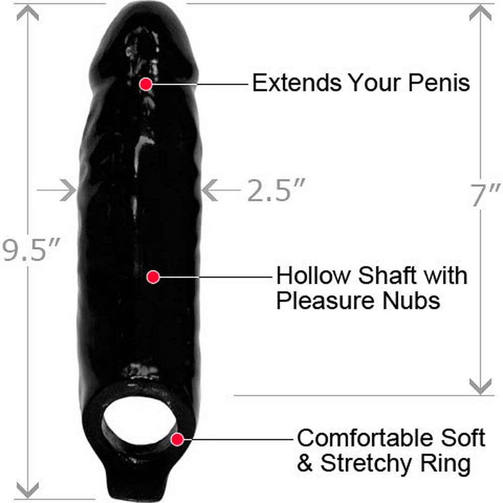 "XL Mamba Cock Sheath Penis Extender 7"" Black - View #1"