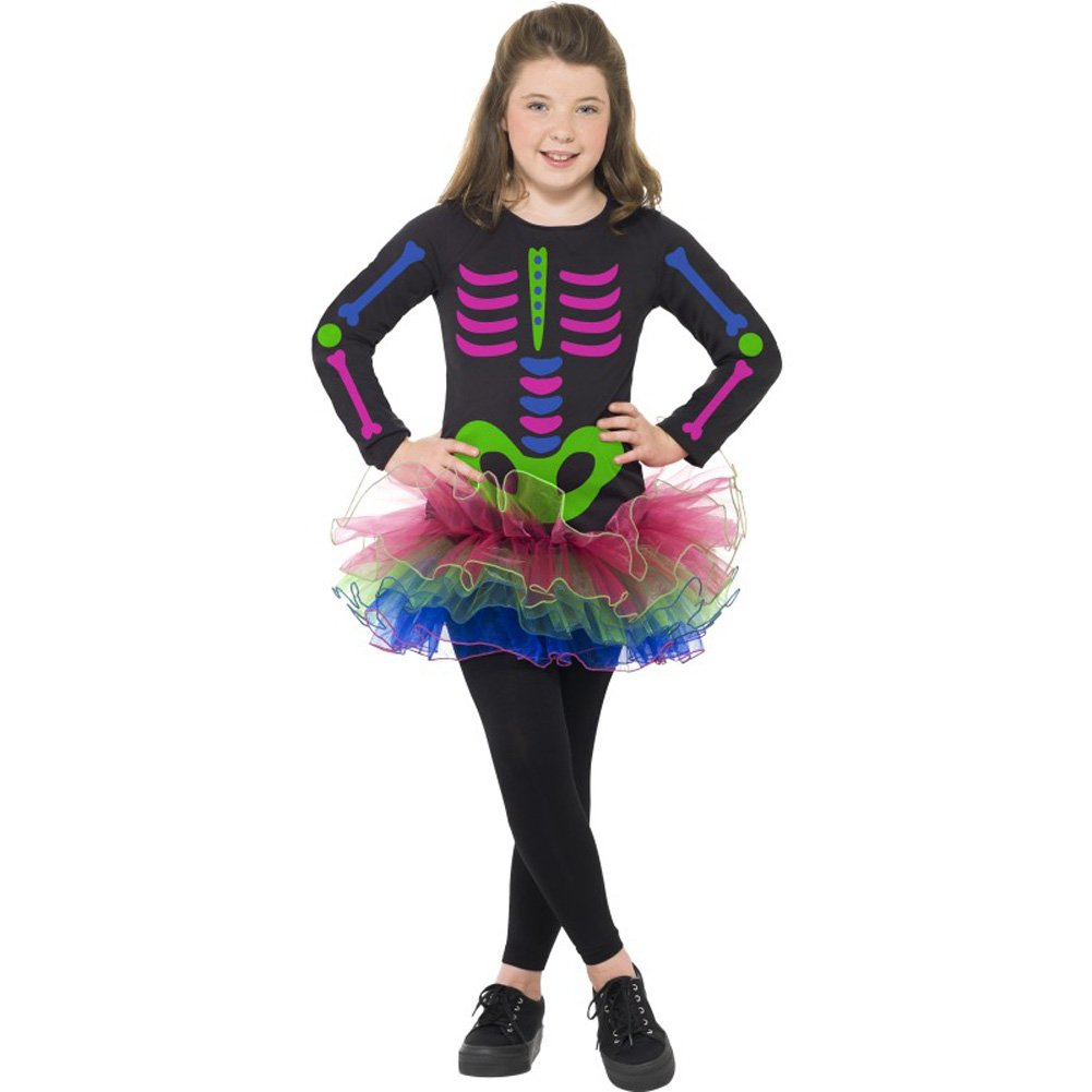 neon skeleton girl costume - Skeleton Halloween Costume For Kids